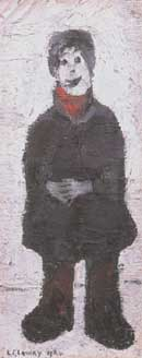 Standing Man with Hands Clasped - L-S-Lowry reproduction oil painting