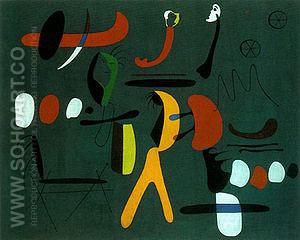 Painting (B)_1933 - Joan Miro reproduction oil painting