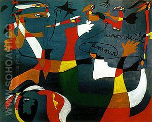Hirondelle d'amour 1934 - Joan Miro reproduction oil painting