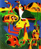 Figures and Mountains 1936 - Joan Miro