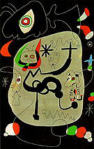 Dancer Hearing an Organ Playing in a Gothic Cathedral 1945 - Joan Miro