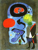 The Red Sun 1948 - Joan Miro