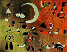Painting (Figures in the Night) 1949 - Joan Miro