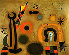 Dragonfly with RedTipped Wing in Pursuit of a Surpent Spiralling Toward a Comet 1951 - Joan Miro