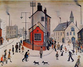 A Street In Clitheroe - L-S-Lowry reproduction oil painting