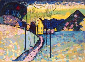 Winter Landscape 1909 - Wassily Kandinsky reproduction oil painting