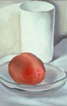 Georgia O'Keeffe Peach and Glass 1927