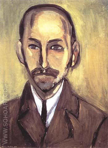 Portrait of Michael Stein 1916 - Matisse reproduction oil painting