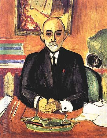 Portrait of Auguste Pellerin (I) 1916 - Henri Matisse reproduction oil painting