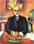 Portrait of Auguste Pellerin (I) 1916 - Matisse reproduction oil painting