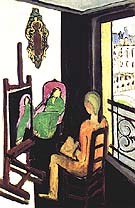 The Painter in His Studio 1916 - Matisse reproduction oil painting