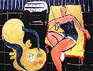 Matisse Dancer and Rocaille Armchair on a Black Background 1942