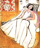 Matisse Young Woman with White Fur Coat 1944