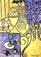 Matisse Interior in Yellow and Blue 1946