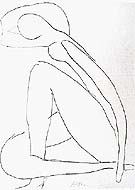 Sketch for the Blue Nude 1952 - Matisse