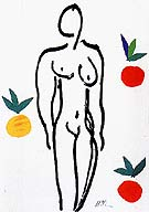 Nude with Oranges 1952 - Matisse