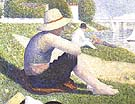 Bathers at Asnieres [detail] 1883 - Georges Seurat