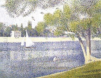 The Seine at La Grande Jatte, Spring 1887 - Georges Seurat reproduction oil painting