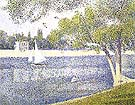 The Seine at La Grande Jatte, Spring 1887 - Georges Seurat
