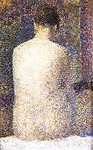 Model, Rear View 1887 - Georges Seurat