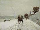 Childe Hassam Along the Seine Winter 1887