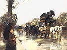 Childe Hassam April Showers Elysees Paris 1888