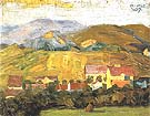 Village with Mountains 1907 - Egon Scheile