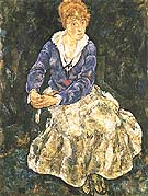 Portrait of the Artist's Wife, Seated 1918 - Egon Scheile