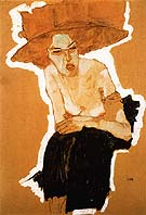 Egon Scheile The scornful Woman (Gertrude Schiele) 1910