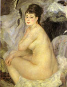 Nude seated on a Sofa 1876 - Pierre Auguste Renoir