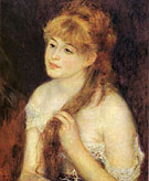 Young Woman Braiding Her Hair 1876 - Pierre Auguste Renoir