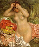Bather Arranging Her Hair 1893 - Pierre Auguste Renoir