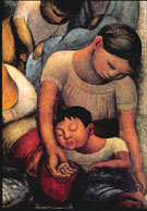 Mother and child Sleeping - Diego Rivera