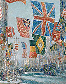 Avenue of the Allies, Great Britain 1918 - Childe Hassam reproduction oil painting