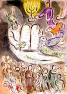 Moses and the Ten Commandments - Marc Chagall