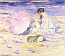 On the Beach in Corsica 1913 - Frederick Carl Frieseke