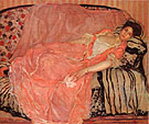 Frederick Carl Frieseke Portrait of madame Gely (On the Couch)