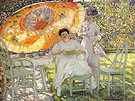 The Garden Parasol 1910 - Frederick Carl Frieseke