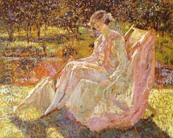 Sunbath 1914 - Frederick Carl Frieseke reproduction oil painting