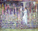 Hollyhocks - Frederick Carl Frieseke