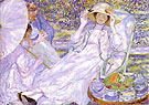 The House of  Tea 1914 - Frederick Carl Frieseke reproduction oil painting
