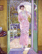 In the Doorway (Good Morning) 1913 - Frederick Carl Frieseke