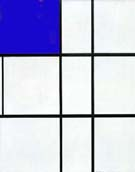 Composition B with Cobalt - Piet Mondrian