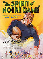 THE SPIRIT OF NOTRE DAME, 1931 - Sporting-Movie-Posters