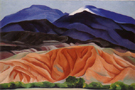 Georgia O'Keeffe Black Mesa Landscape New Mexico