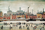 Northern River Scene 1930 - L-S-Lowry reproduction oil painting