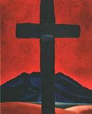 Georgia O'Keeffe Cross with Red Sky 1929