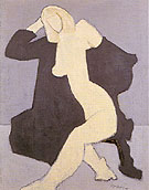 Nude in Black Robe - Milton Avery