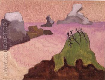 Oregon Coast - Milton Avery reproduction oil painting