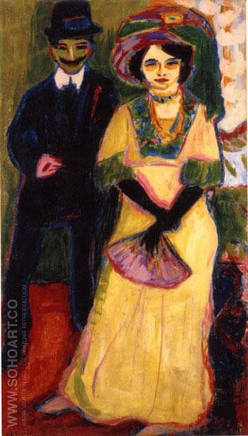 Dodo and Her Brother - Ernst Kirchner reproduction oil painting